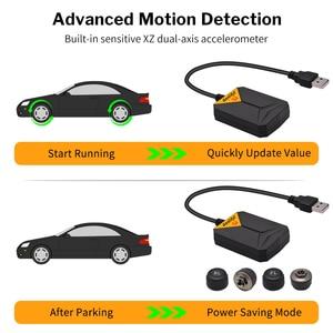 Image 4 - Deelifeアンドロイドtpms車のラジオdvdプレーヤータイヤ空気圧監視システムスペアタイヤ内部外部センサーusb tmps