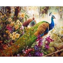 Gatyztory птицы diy Рисование по номерам животные Акриловая