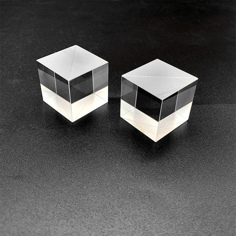 Prisma de triángulo Beamsplitter personalizado 15*15*15mm ángulo recto Prisma de triángulo cubo Beamsplitter AR recubrimiento de prisma de pegamento de prisma de ángulo recto H & D 30mm ventana de vidrio colgante atrapasoles ornamento máquina de arcoíris bola de cristal prismas colgante hogar jardín decoración coche encanto regalo