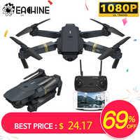 Eachine E58 WIFI FPV Com A Câmera HD Grande Angular de Alta Modo Hold Dobrável Braço RC Quadcopter Drone RTF VS VISUO XS809HW H37