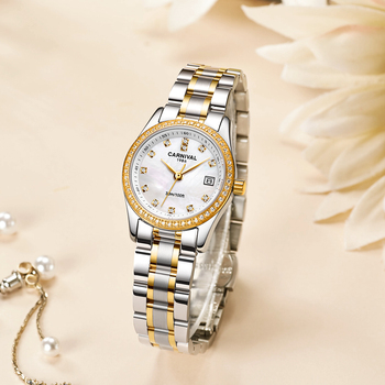 Carnival Quartz l Women's watch Stainless Steel Waterproof date watch women gift for friend