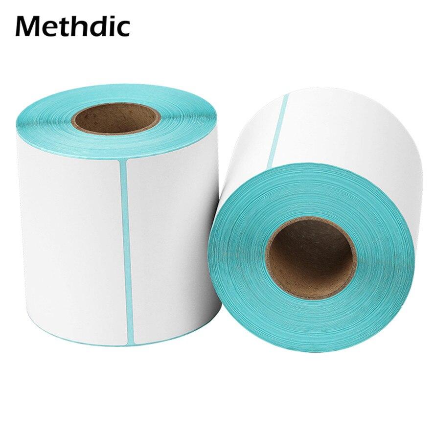 Methdic 500pcs/roll Custom Permanent Adhesive Shipping Label Sticker Roll