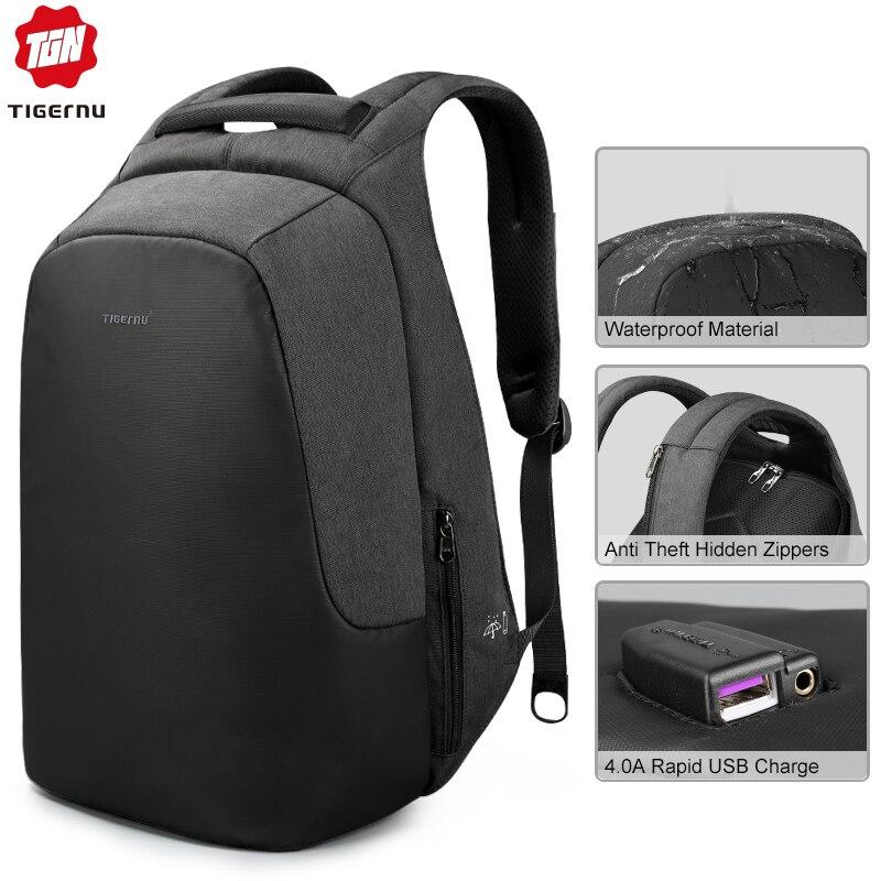 Anti vol hydrofuge 15.6 pouces USB charge casual hommes sacs à dos sac d'école sac à dos femme mâle pour adolescents filles-in Sacs à dos from Baggages et sacs    1