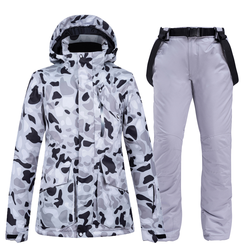 -30°C Warm Ski Suit Women Brand Female Ski Jackets And Pants Warm Waterproof Breathable Skiing And Snowboarding Suits