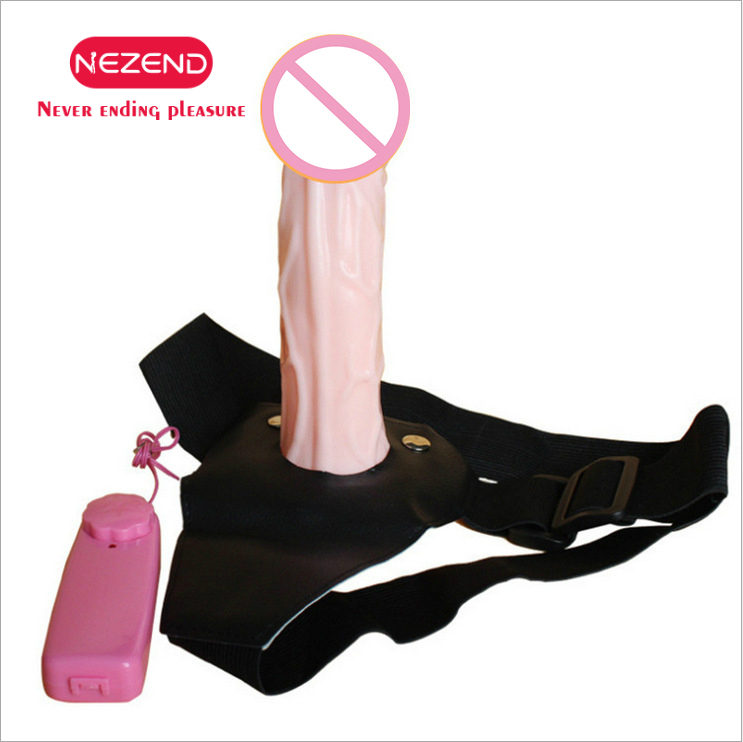 NEZEND Wearable Vibrating Penis <font><b>Adult</b></font> <font><b>Sex</b></font> <font><b>Toys</b></font> Silicone Lesbian <font><b>Strap</b></font> <font><b>On</b></font> Harness Vibrator Dildo <font><b>For</b></font> Couples Hollow Design <font><b>Men</b></font> image