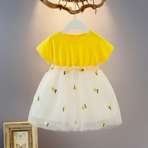 Girl Dress Summer Toddler Kids Girls Short Sleeve Pineapple Tutu Princess Leisure Dresses Girls Casual Party Clothes vestido inf