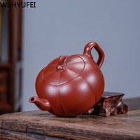 170ml new style Chinese style purple sand teapot Dahongpao Kungfu tea set teapot Office household drinking utensils WSHYUFEI