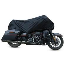 X AUTOHAUX 210T Motorcycle Half Cover Outdoor Waterproof Dustproof Rain Dust Anti UV Protector M L XL