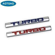 1Pcs 3D Metal 210 220 TURBO Car Side Fender Rear Trunk Emblem Badge Sticker Decals,Car decoration stickers
