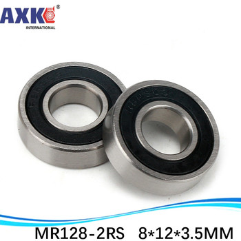 AXK sale price 1 pc miniature deep groove ball bearing MR128-2RS / 678RS 8*12*3.5 mm image