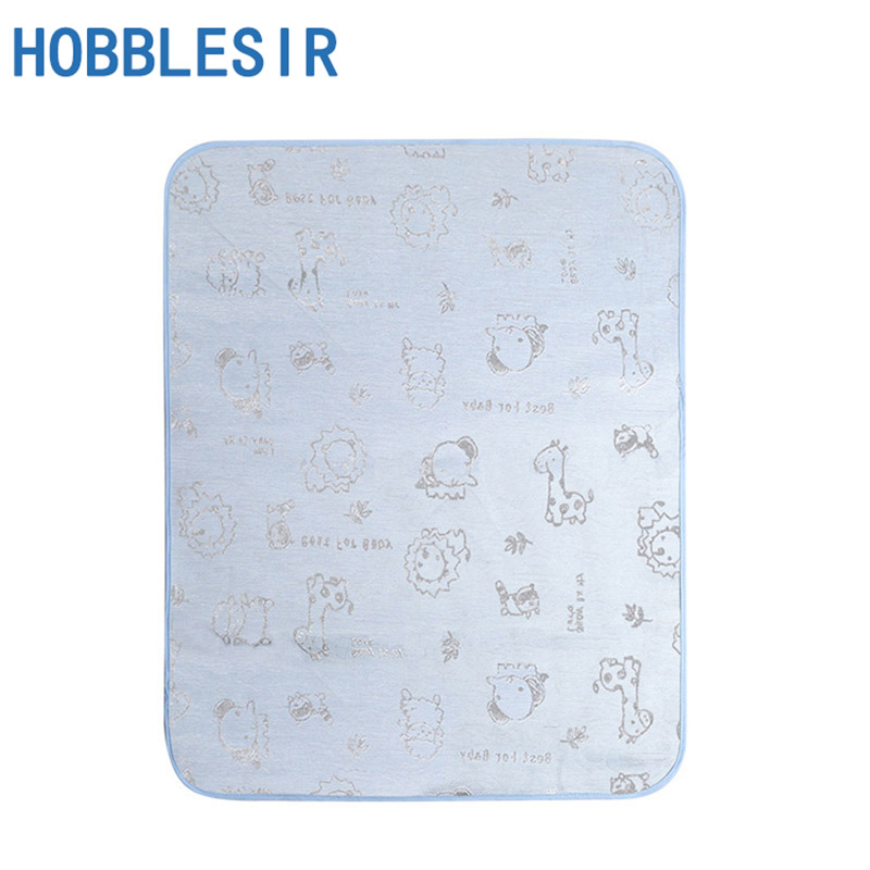 Newborn Baby Insulation Pad Summer Breathable Waterproof Mattress Washable Large Baby Ice Silk Mat Summer Thin Section