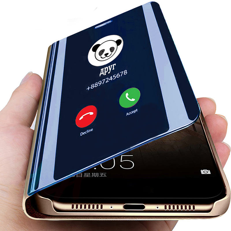 Smart Mirror View Flip Phone Case For Xiaomi Redmi 5 Redmi 4X Redmi 6 Pro Redmi K20 Redmi K20 Pro Redmi Note 8 Pro Phone Case
