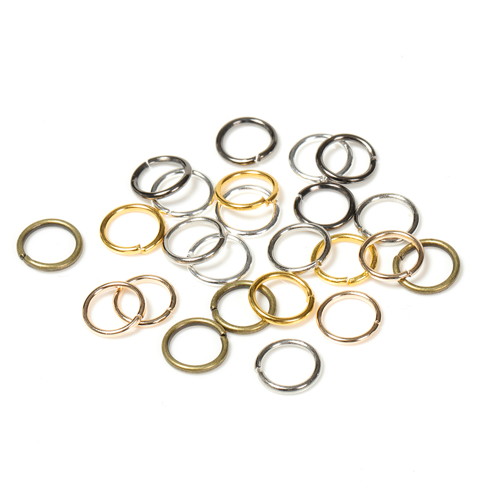 200pcs/lot Wholesale Gunblack/Antique Bronze/Gold/Silver/Rhodium Color Jump Rings Jewelry Making Findings 4-10mm Jump Rings