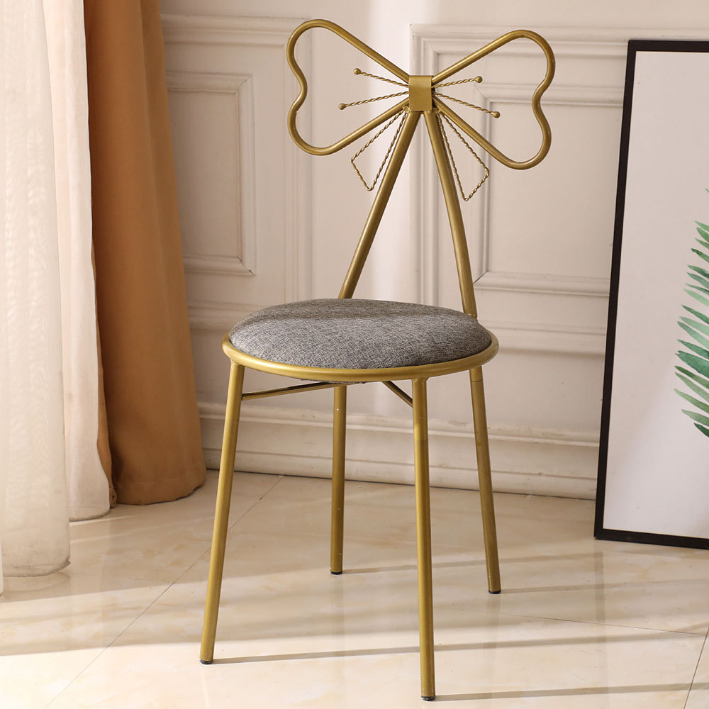 High Stool Modern Dining Chair Simple Bar Stool Wrought Iron Bar Chair Gold Iron Leisure Chair Nordic Bar Chair