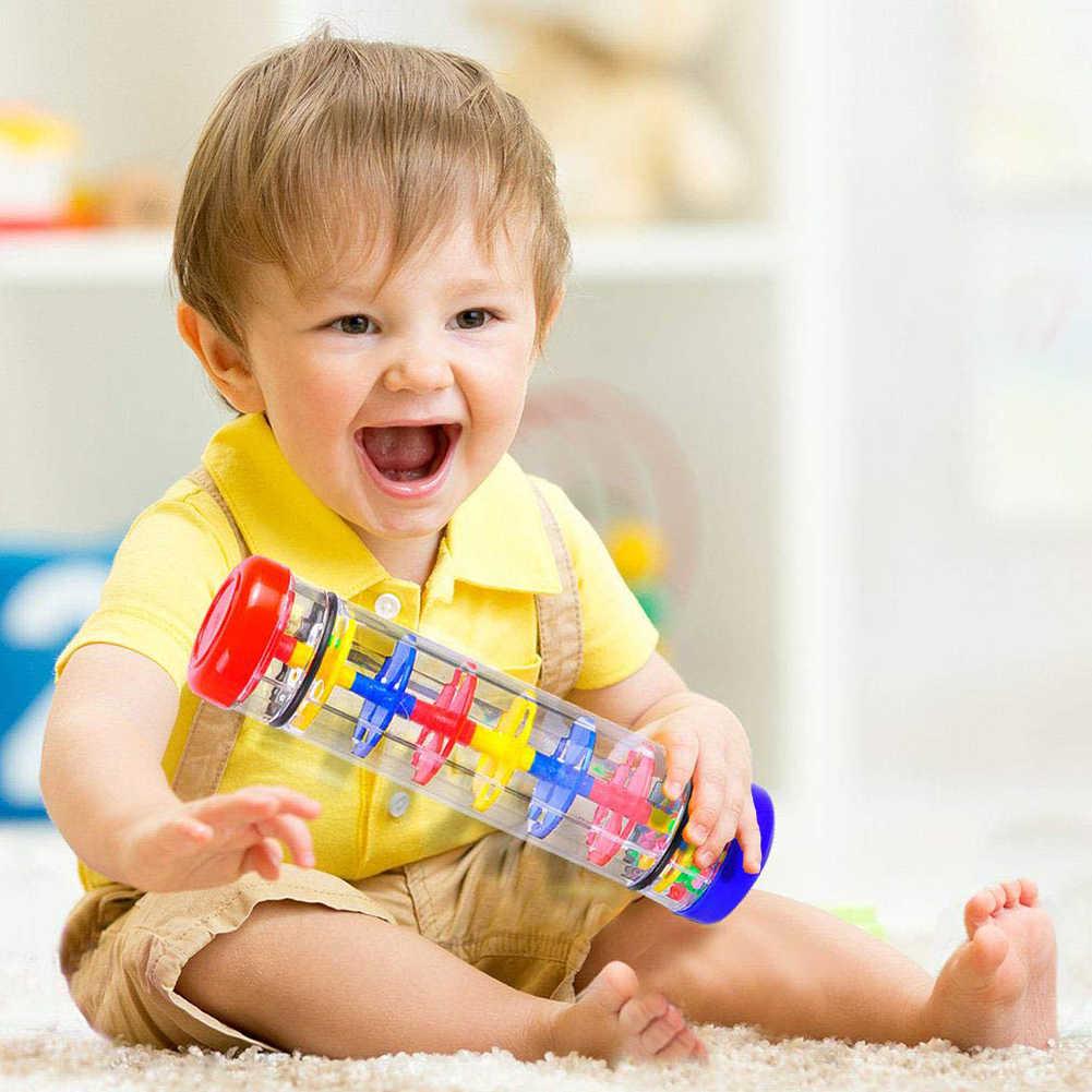 1/2/3 inç çocuklar Rainmaker tüp sopa müzik perküsyon enstrüman eğitim oyuncak perküsyon çevre dostu plastik oyuncak