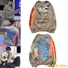 Eu sou amante consciência sweatshirts homem mulher pura liberdade kingfisher logotipo kanye west hoodie com capuz hip hop asiático tamanho hoodies