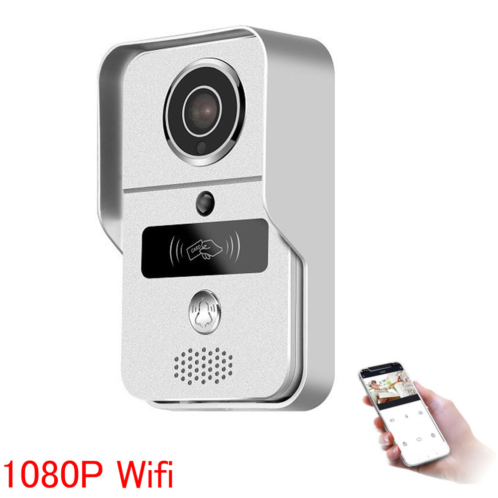1080P  Wireless Video Recording Video Door Phone RFID Keyfobs Wifi IP Door Bell POE Camera Add 16GB SD For ONVIF Connect NVR