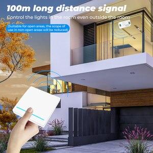 Image 5 - SMATRUL Tuya ścienny inteligentny APP WiFi włącznik światła 1/2/3 Gang bezprzewodowy RF 433Mhz Push przycisk DIY moduł przekaźnika czasowego przekaźnika Google Alexa domu