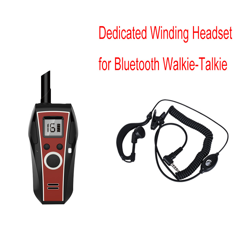 2 PCS Wonderful Performance Dedicated Winding Headphones With PTT And Microphone For Mini Bluetooth Walkie-Talkie