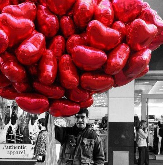Happy ของขวัญวันวาเลนไทน์ Decor Saint San Valentin ตกแต่งหัวใจรักบอลลูนฟอยล์บอลลูนงานแต่งงาน Love You Globos