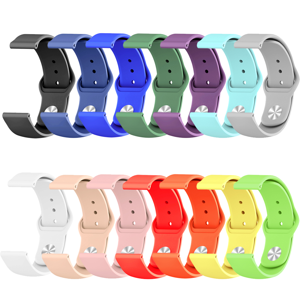 Silicone Sport Strap For Xiaomi Huami Amazfit Bip BIT Lite Youth Smart Watch Wrist Bracelet For Amazfit Bip Watchband 20mm Strap