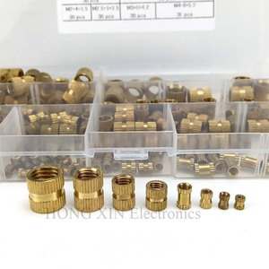 Image 4 - 210pcs/set Brass Cylinder Knurled Threaded Round Insert Embedded Nuts Kit with Plastic Box