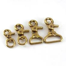 Lobster Clasps Trigger-Clips Bag-Strap Snap-Hook Leashes Swivel Solid Brass Rope Belt-Webbing