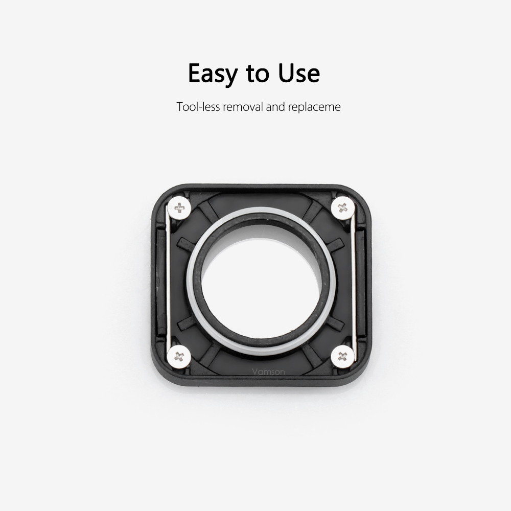 Vamson for Gopro Hero 7 Black 6 5 UV Lens Ring Replacement Protective Repair Case Frame for Go pro Accessories VP717