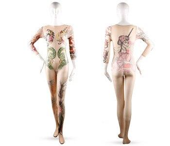 Japanese Tattoo Printing Bodystockings  5