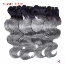 MOGUL HAIR 2/3/4 Bundle Deals T 1B Grey Brazilian Body Wave