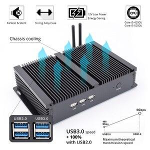 Image 5 - 2020 Topton جديد بدون مروحة كمبيوتر مصغر i7 8565U/i5 8265U/i3 5005U كمبيوتر مكتبي صغير صناعي 2 COM HD VGA 300M واي فاي 4K HD HTPC