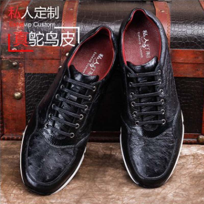 Ourui  New  True  Ostrich Leather  Movement   Sports  Shoes  Men  Leisure  Running Shoes  Selling  Genuine Leather  Men's Shoes
