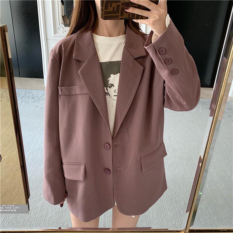 HziriP High Street Loose Pockets Free Suit Coat All Match Office Ladies 3 Types Slender Vintage Elegant Feminine Women Blazers