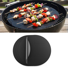 5Pcs Non-stick BBQ Grill Pad Barbecue Baking Reusable Teflon Cooking Plate for Party Mat Tools Kitchen Accessories
