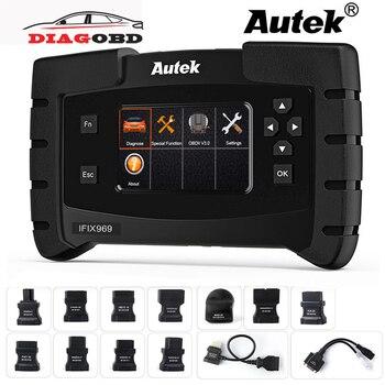 OBD2 scanner automobile professionnel | Outil de Diagnostic, Autek IFIX969 système complet OBDII scanner automobile Airbag ABS SRS SAS EPB remise à l'huile TPMS