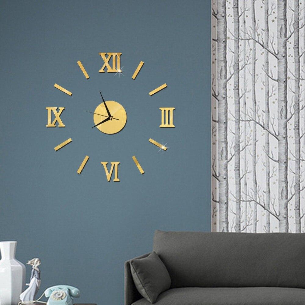 3D Wall Clock Mirror Wall Stickers Fashion Living Room Quartz Watch DIY Home Decoration Clocks Sticker reloj de pared 14