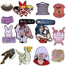 Epingles à revers de haute qualité pour femmes, bijoux féminins, style gothique, dessin animé, film, émail, décoration, cadeaux pour amis