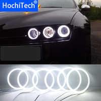 6 sztuk Super jasne biały kolor 3528 SMD led anioł oczy zestaw światła do jazdy dziennej DRL dla Alfa Romeo 159 2005-2011 samochodów stylizacji
