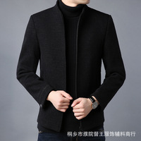 In 2019 the new man qiu dong woolen cloth coat collar jacket fashion business and leisure travelers