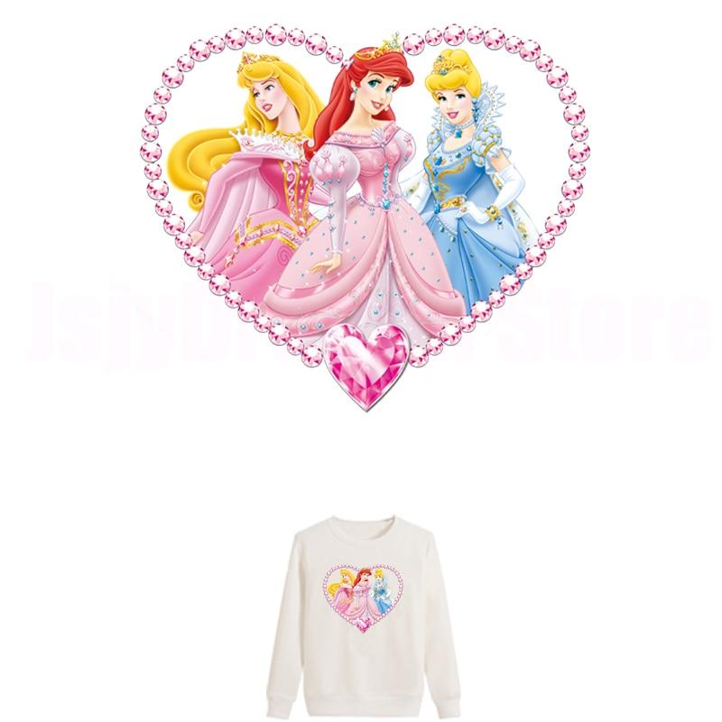 Европейский патч принцессы в форме сердца патч для одежды теплопередача Винил гибкий плавкий трансферный