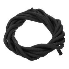 цена на 3 Meter X 5mm Black Nylon Sleeve Wrap Braided Cable Sleeve Textile General Wire for Pipe Hose and Cable Wire Protection New