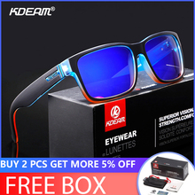 KDEAM Brand Mens Polarized Sunglasses Driving Driver Sun glasses Women Vintage Rectangle Anti-UV Goggles Eyewear With Case KD505