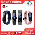 Глобальная версия Honor Band 5 Band5 смарт-браслет с кислородом в крови монитор сердечного ритма в реальном времени 0,95 ''AMOLED экран 5ATM водонепроницае...
