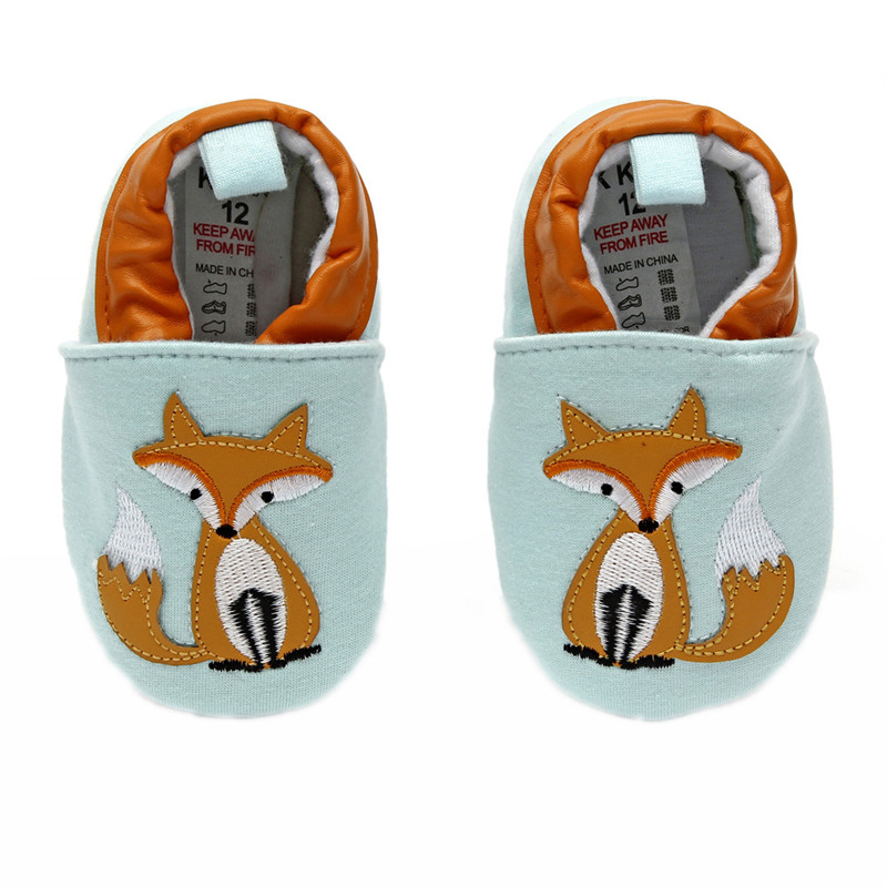 Toddler Winter Shoes Fox Baby Boys Girls Prewalker Blue Cotton Fabric Baby Born Shoes Soft Sole Toddler Warm Shoes Cheap Price