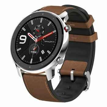 DE LAGER Globale Version Amazfit GTR 47mm Smart Uhr Mit GPS 24-Tage Batterie Lebensdauer Sport Uhr 5ATM Wasserdichte Uhr