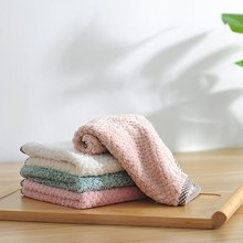 1 Pcs Hanging Coral Fleece Towels Kitchen Towels Lint-Free Absorbent Cloth Dish Cloth Cleaning Cloth coral velvet bathroom supplies soft hand towel absorbent cloth dishcloths hanging lint free cloth kitchen accessories