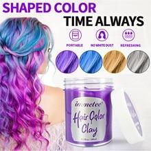 Immetee Hair Color Mud Dyeing Hair Mud Disposable Hair Wax Styling Natural Hair Strong Gel Cream Shaping Hairstyle Hair Wax