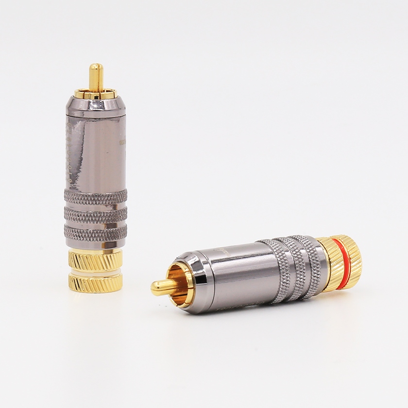 4PCS WBT-0150 Gold Plated RCA Connector Jack RCA Plugs For Hifi RCA Interconnect Audio Cable