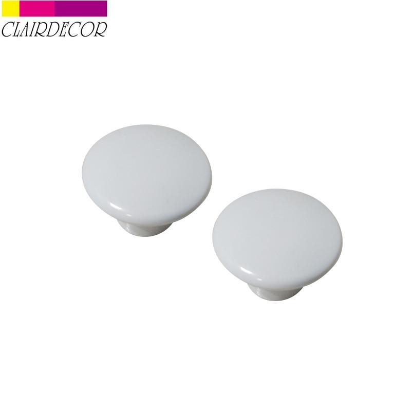 2pcs 35mm Plastic Pull Knob Home Cabinet Drawer  Wardrobe Handle  Kitchen Living Room Bedroom Furniture Hardware