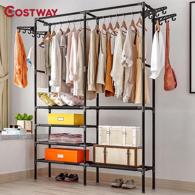 COSTWAY Clothes Hanger Rack  1